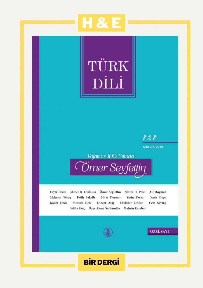Türk Dili Dergisi 828. Sayı